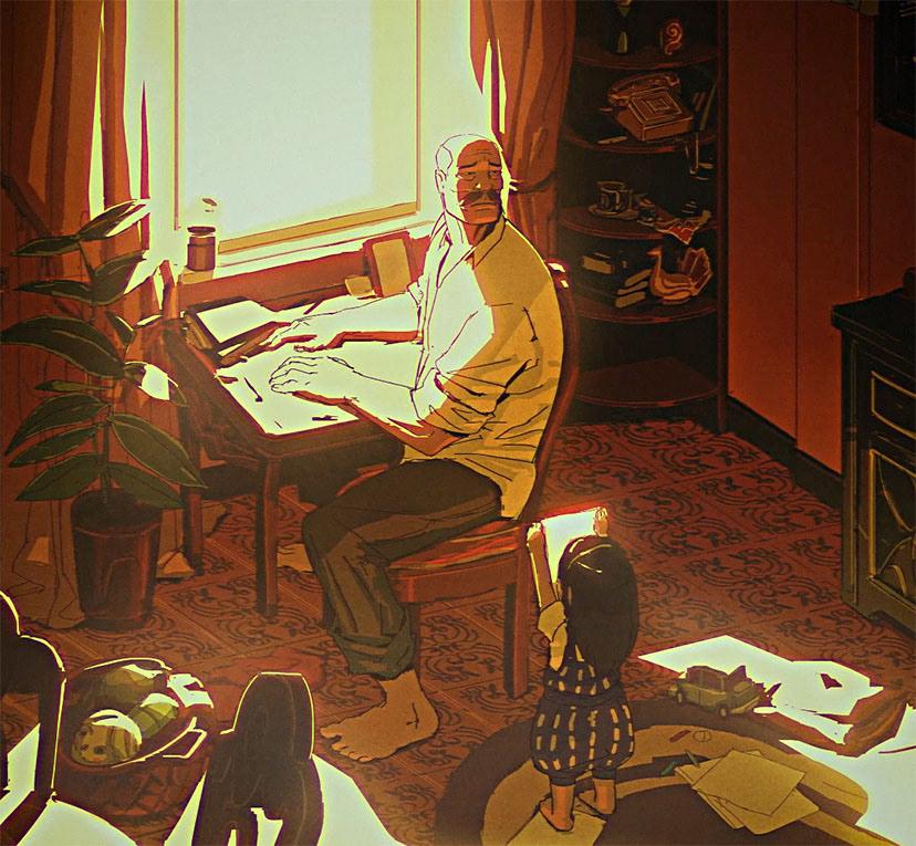 Image may contain: indoor, piano and cartoon