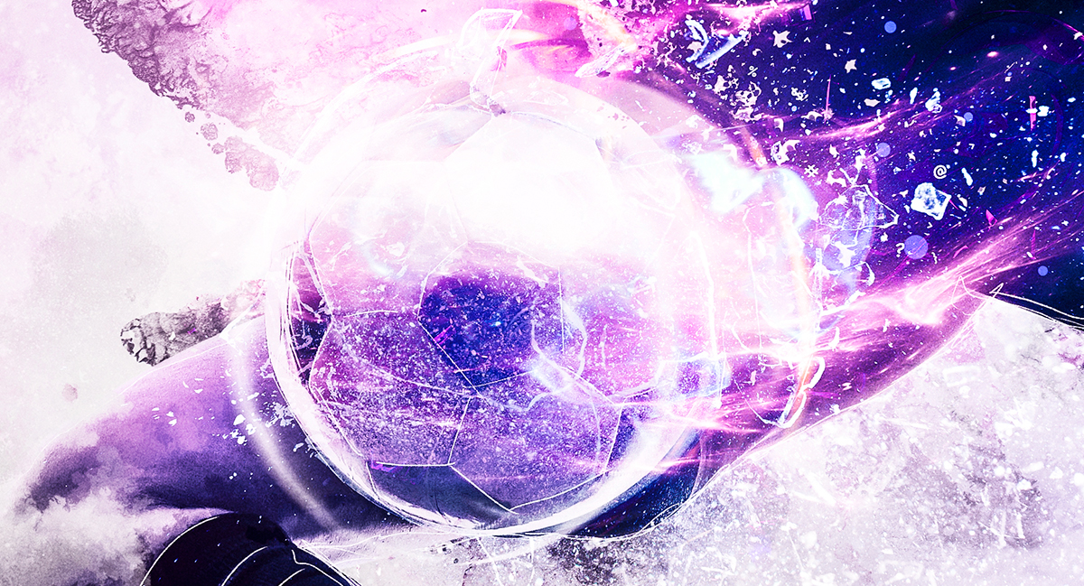 sport footbal soccer light effects light trail watercolor CGI 3D Light Effects Photo Manipulation  Tutorials