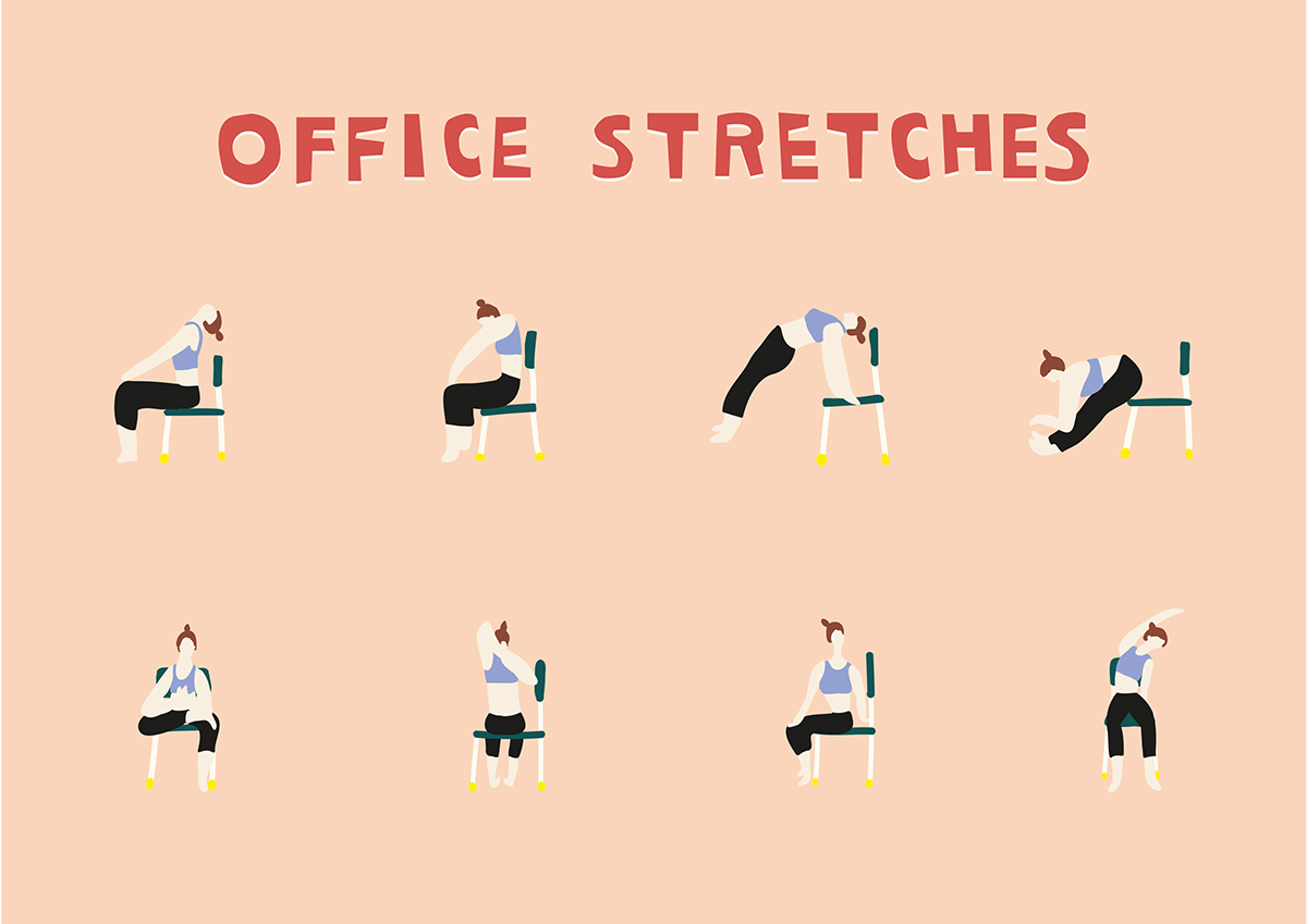 Office stretches help you learn how to motivate yourself to work out
