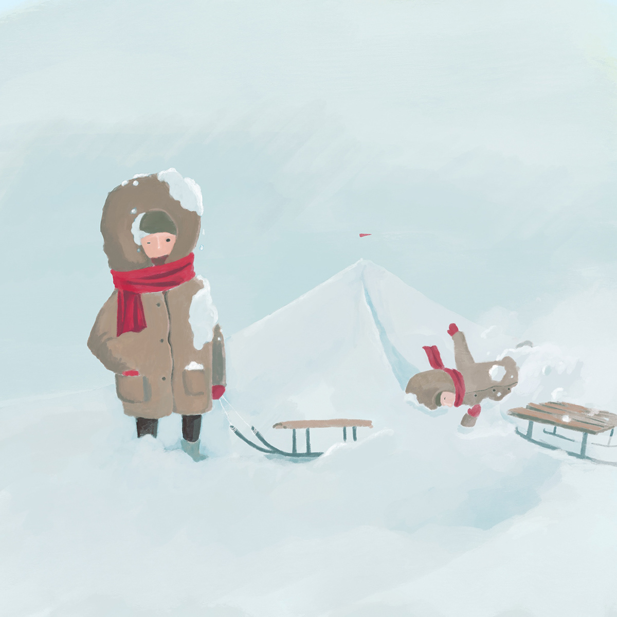 ILLUSTRATION  animation  dark winter lithuania lietuva klaipeda snow
