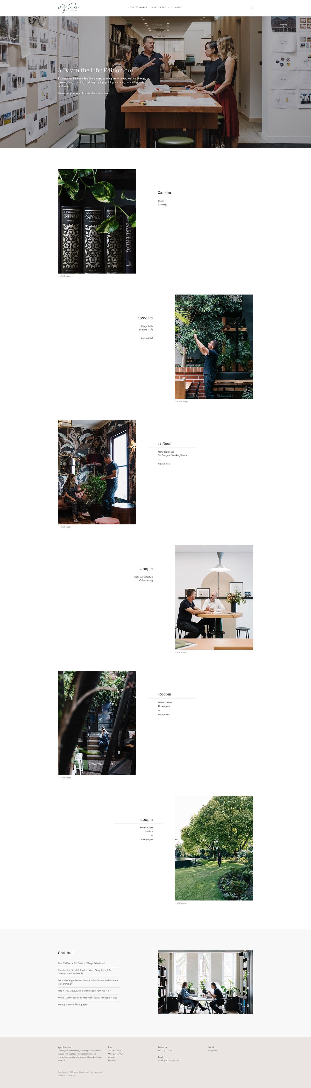 Ayus Botanical Landscape Design garden design squarespace Website grid based The Printer's Son