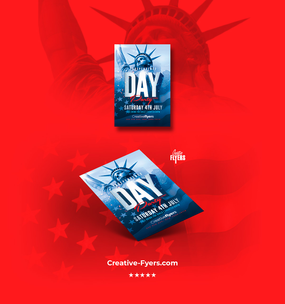 independence day flyer on behance