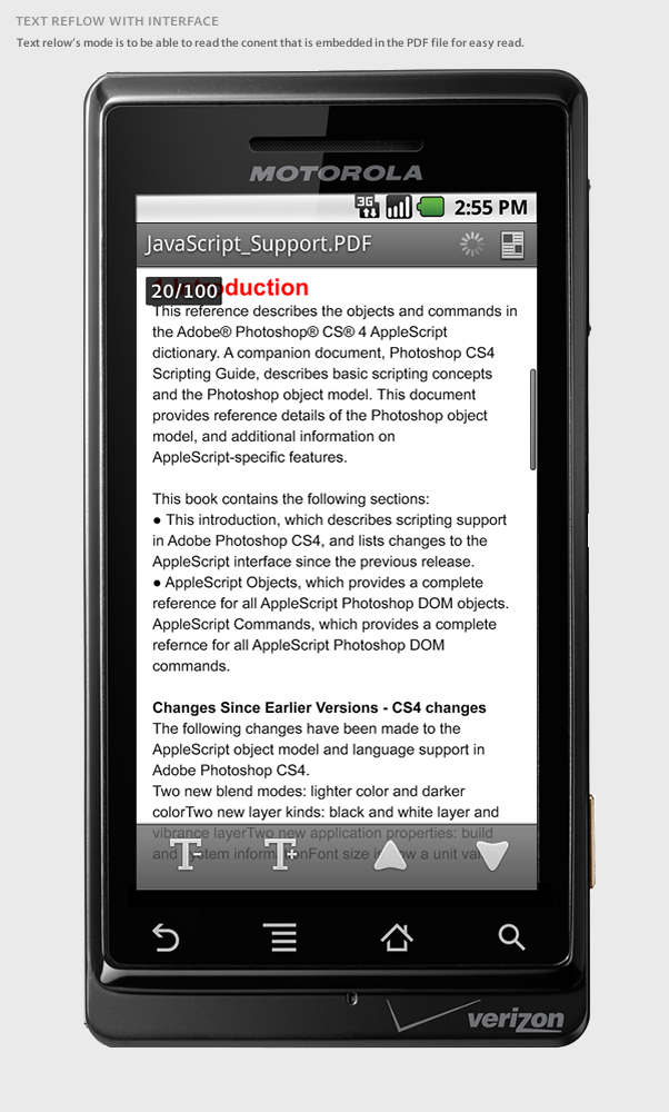 Adobe Reader 1 0 (Android) on Behance