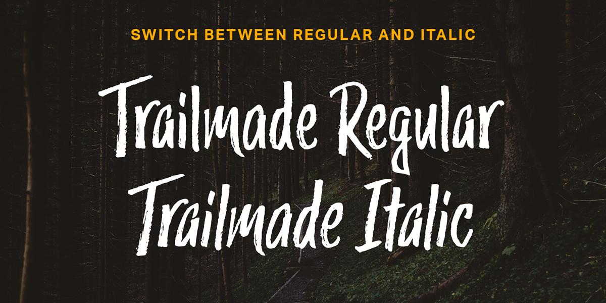 Trailmade Font Family on Behance