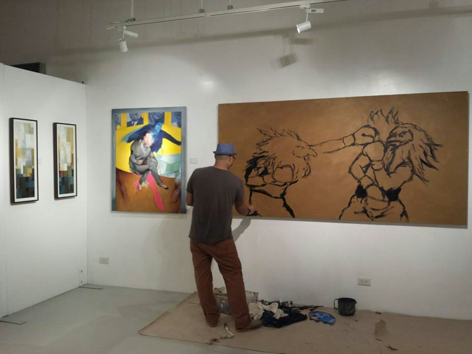 9to5 9-5 9to5 exhibition now gallery 9to5 group show pinoyartista jose gamboa jose gamboa art jose gamboa paintings