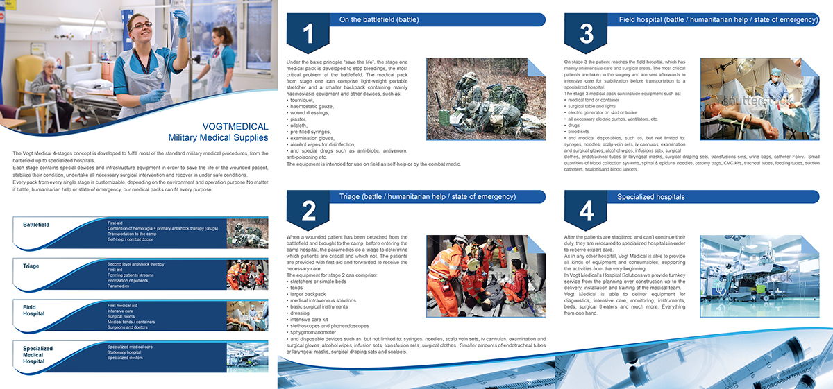 3xA4 brochure medical brochure 3xA4 tri-fold brochure tri-fold brochure 3xA4 nice modern elegant Eye-Catching White blue
