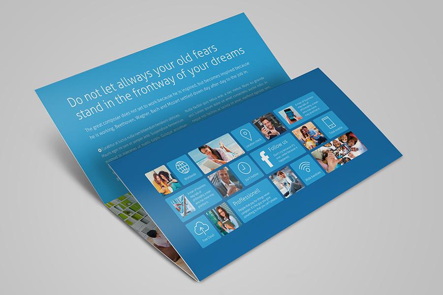 Metro horizontal tri fold flyer on behance for Horizontal brochure template
