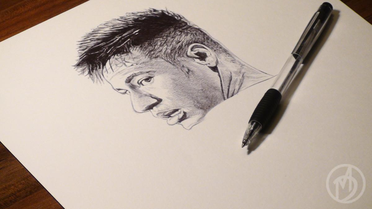 neymar junior ballpoint pen drawing on behance