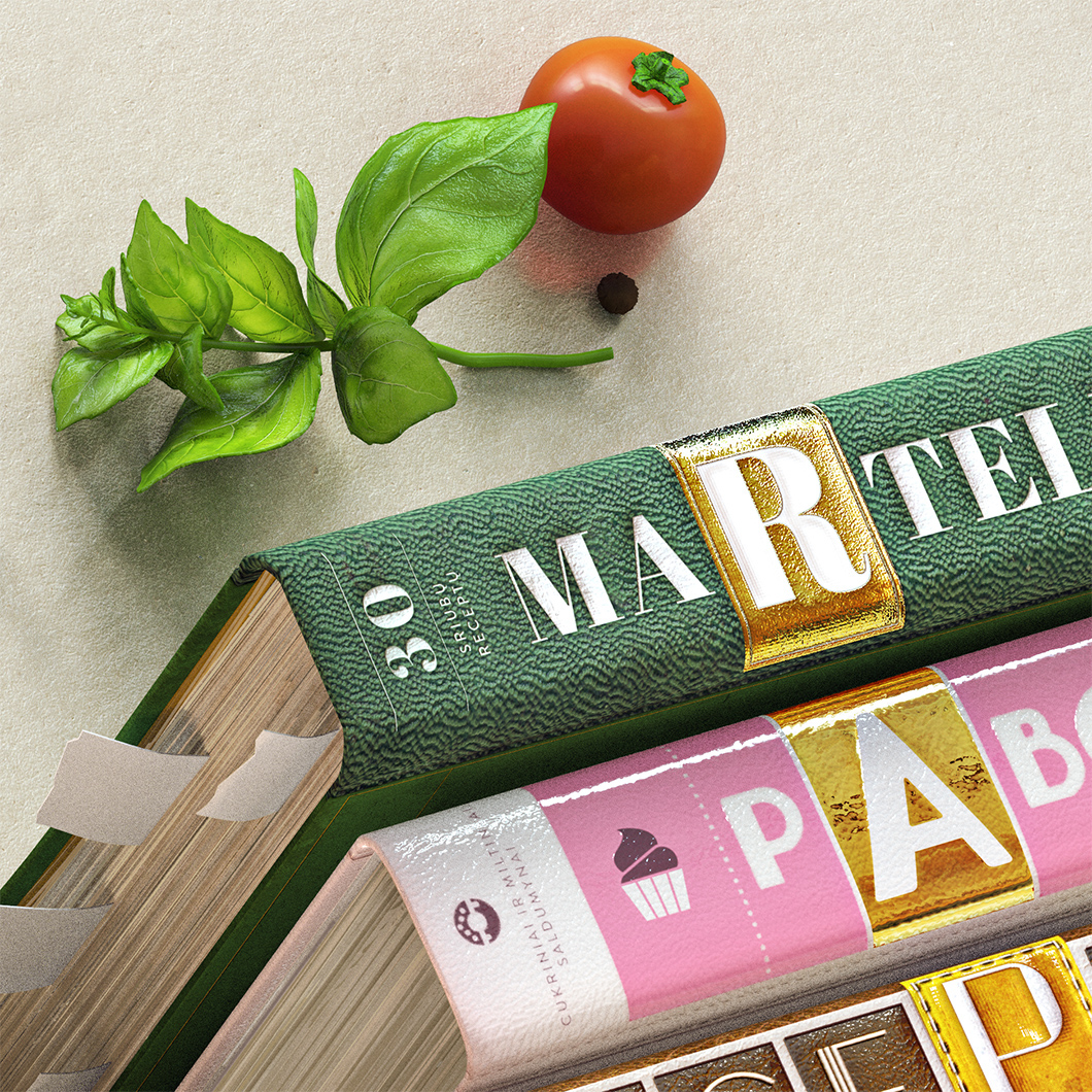 oil typography   3D Food  books combs sleeves vilnius lithuania