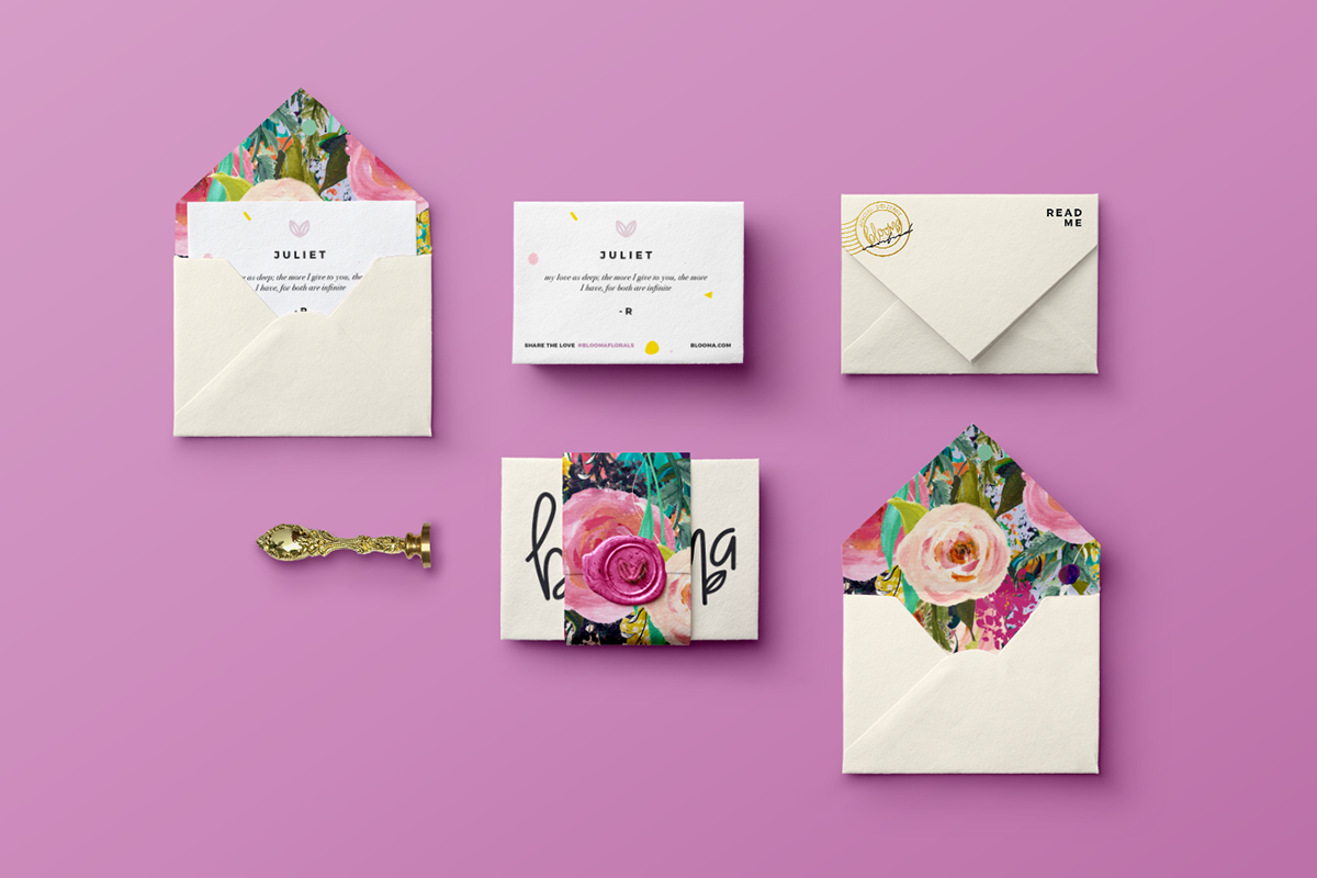 Thank You Blooma Floral Studio on Behance