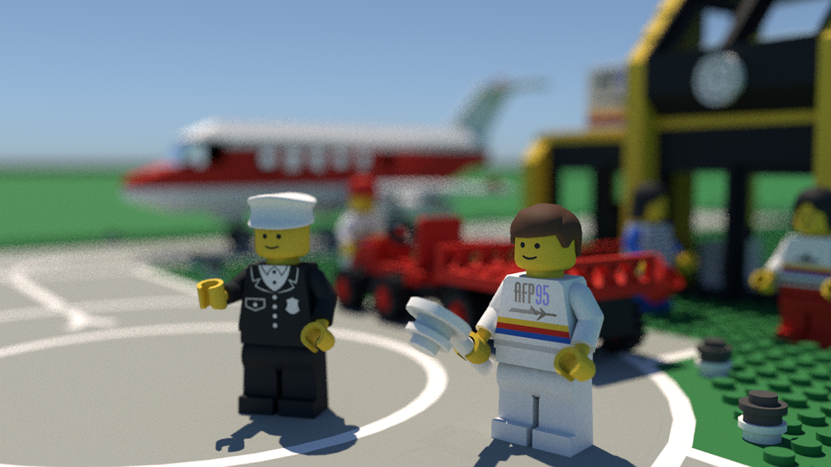 c4d cinema 4d arnold Legos 3D airport