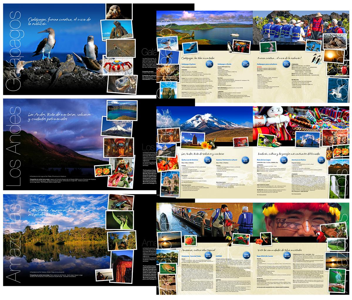 Travel Ecuador guayaquil Galapagos Amazon Coast adventure folleto brochure revista