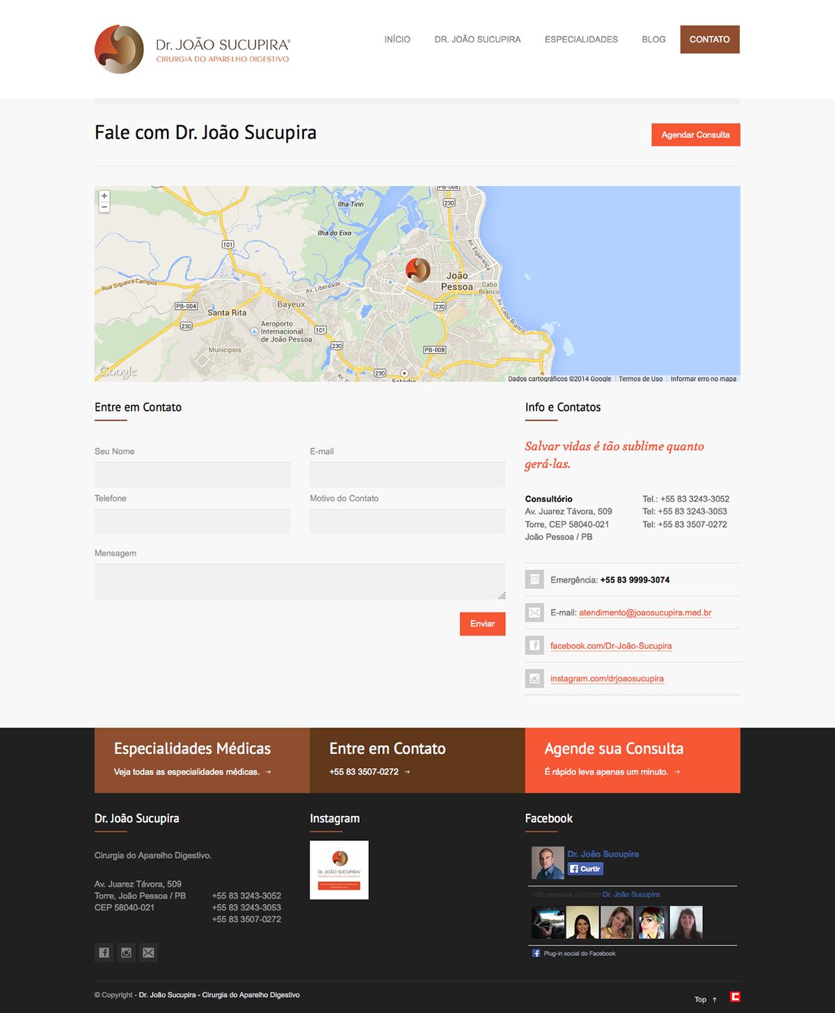 criação de sites construir sites criar sites site site responsivo Site Mobile Celular dr. João sucupira medico site médico clidenor clidenorjr clidenorME