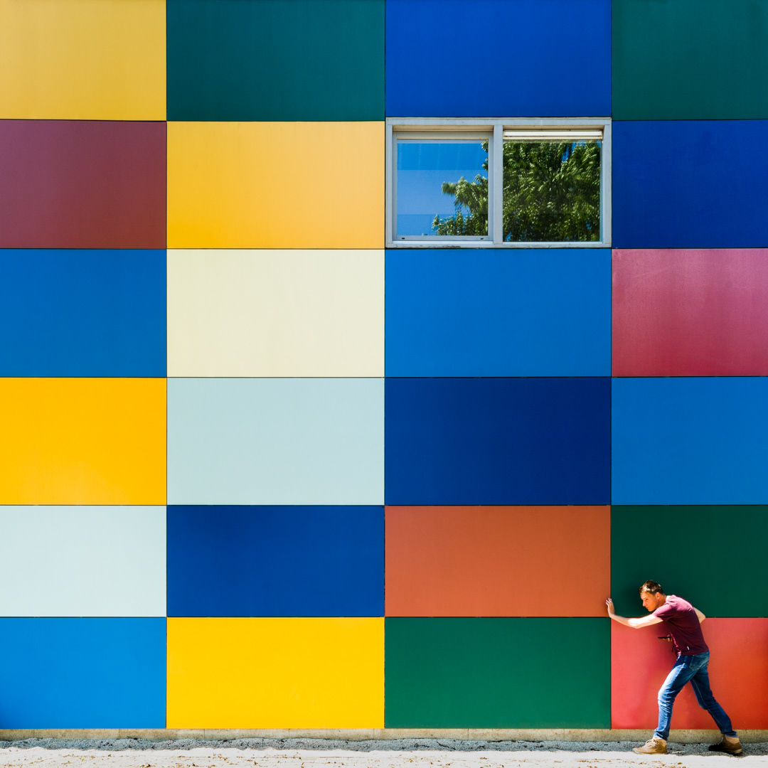 Wonderful colorful facade found in Houten, The Netherlands