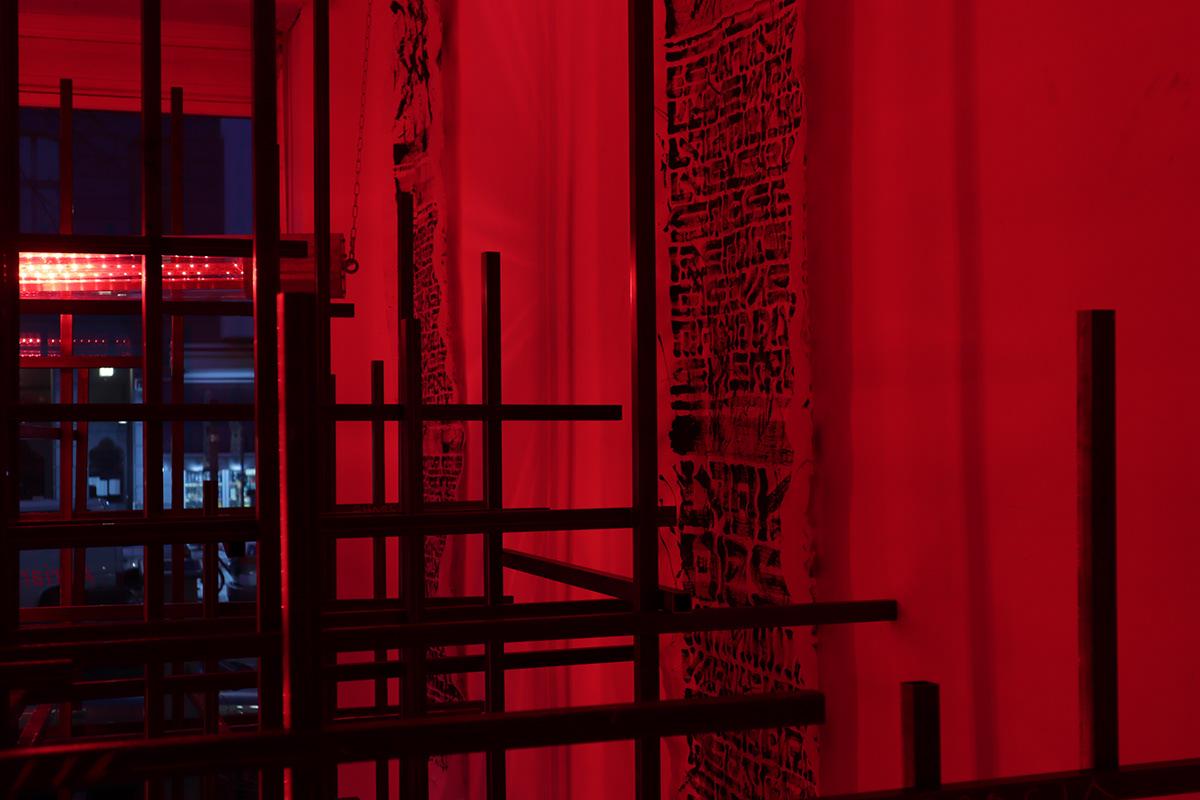 the krank berlin urban art Exhibition  Abstract Art art berlin KRANK contemporary installation Performance