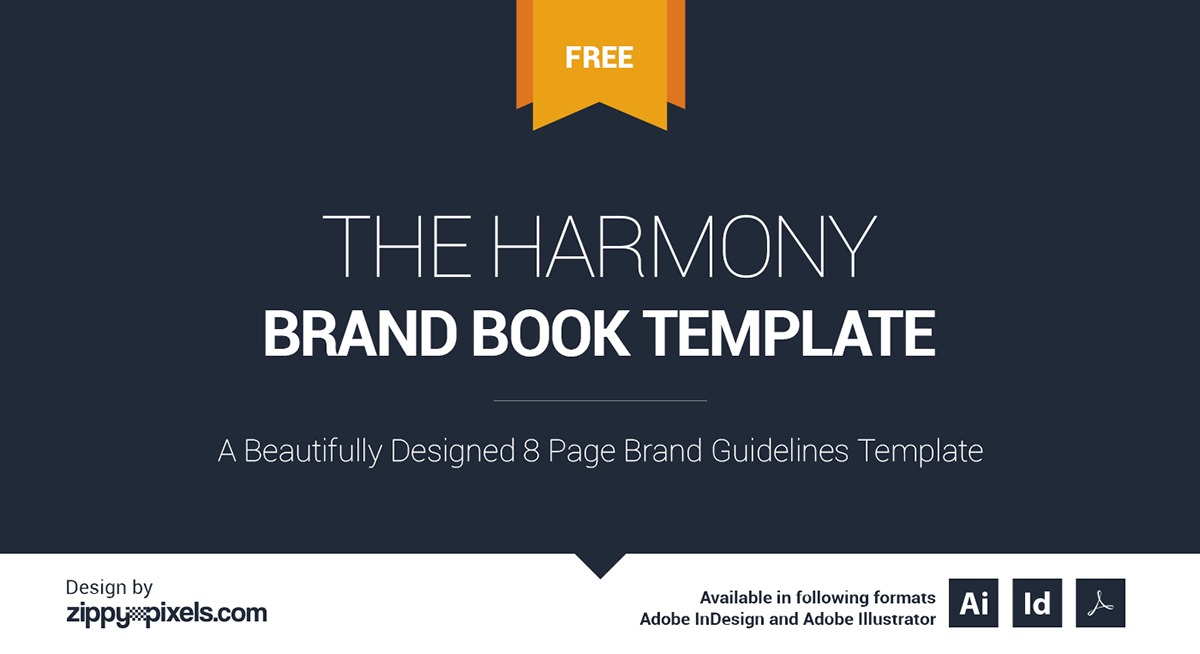 the harmony free brand book template