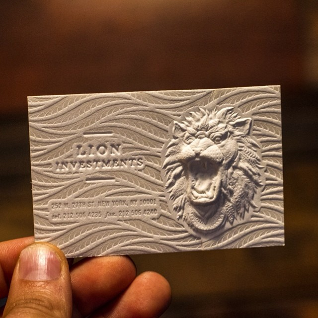 3d embossed business cards with letterpress on behance colourmoves