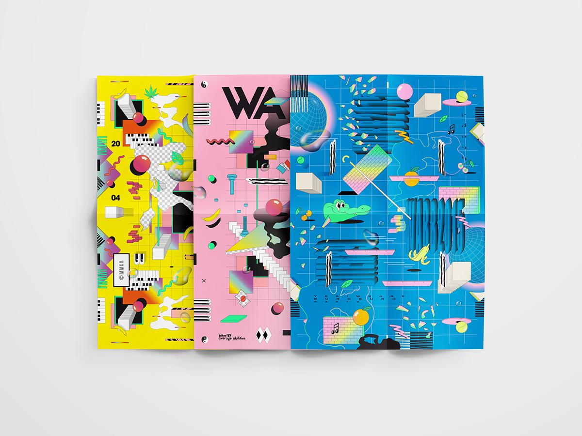 wearebuerobuero,WABB,Julian Faudt,stefan mückner,poster,90's