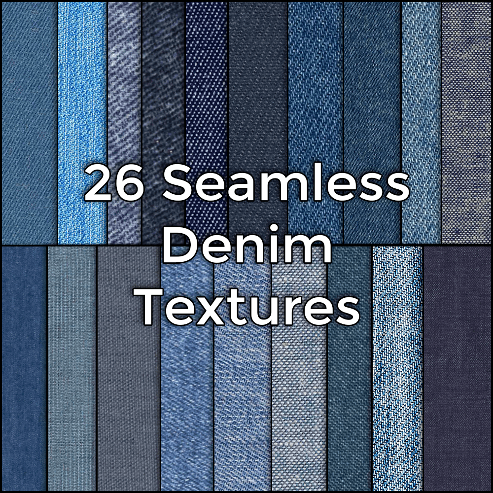 26 Hi Res Seamless Denim Fabric Textures by CG Elves on Behance