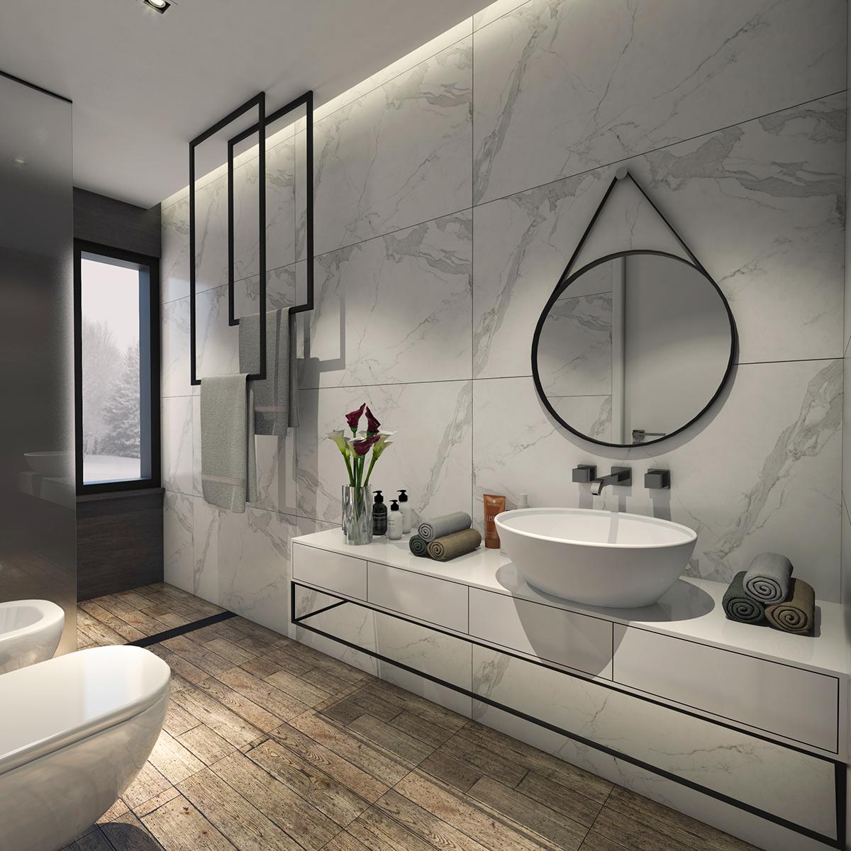 BATHROOM DESIGN /3/ /VRAY TRAINING/ on Behance on Model Toilet Design  id=27940