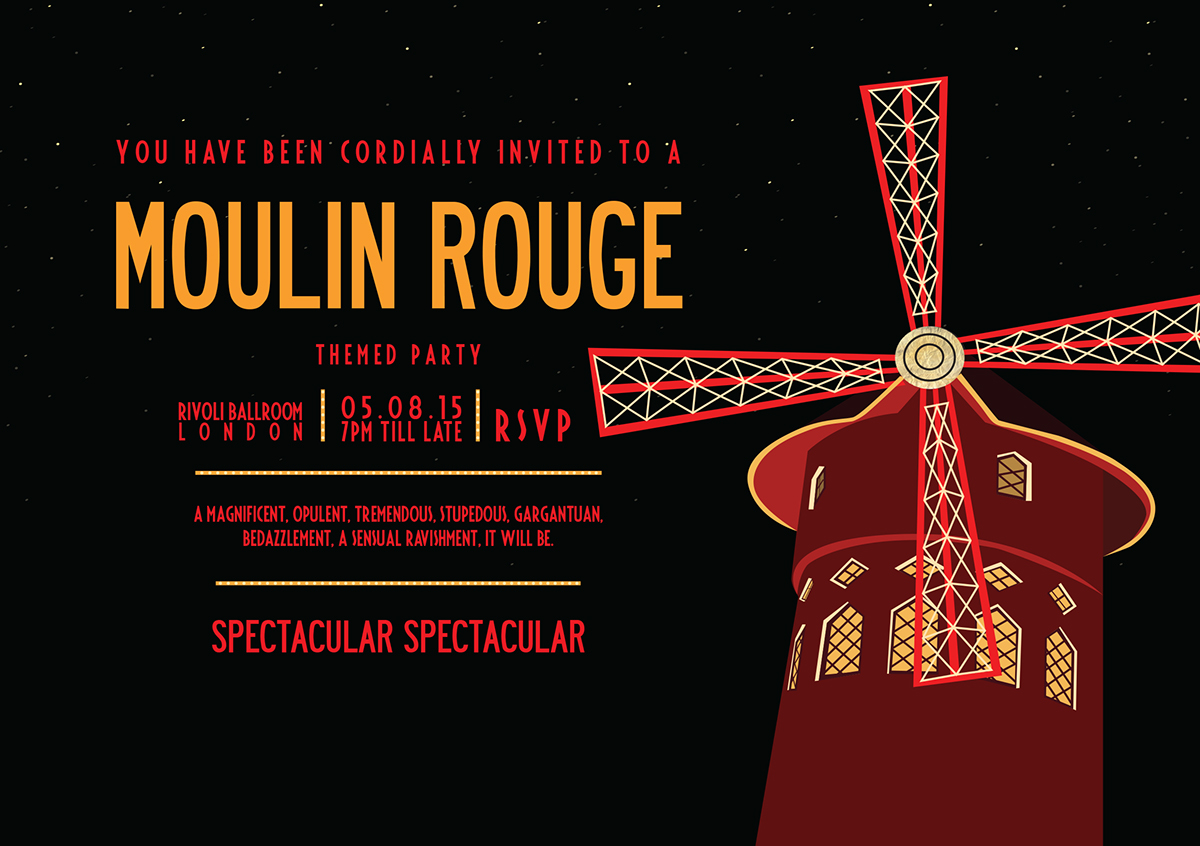 Moulin Rouge Party On Behance