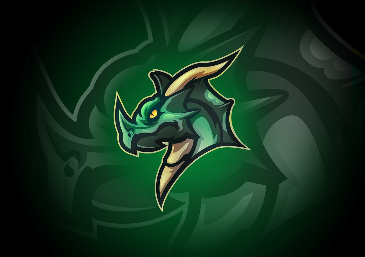 the great dragon mascot logo on behance