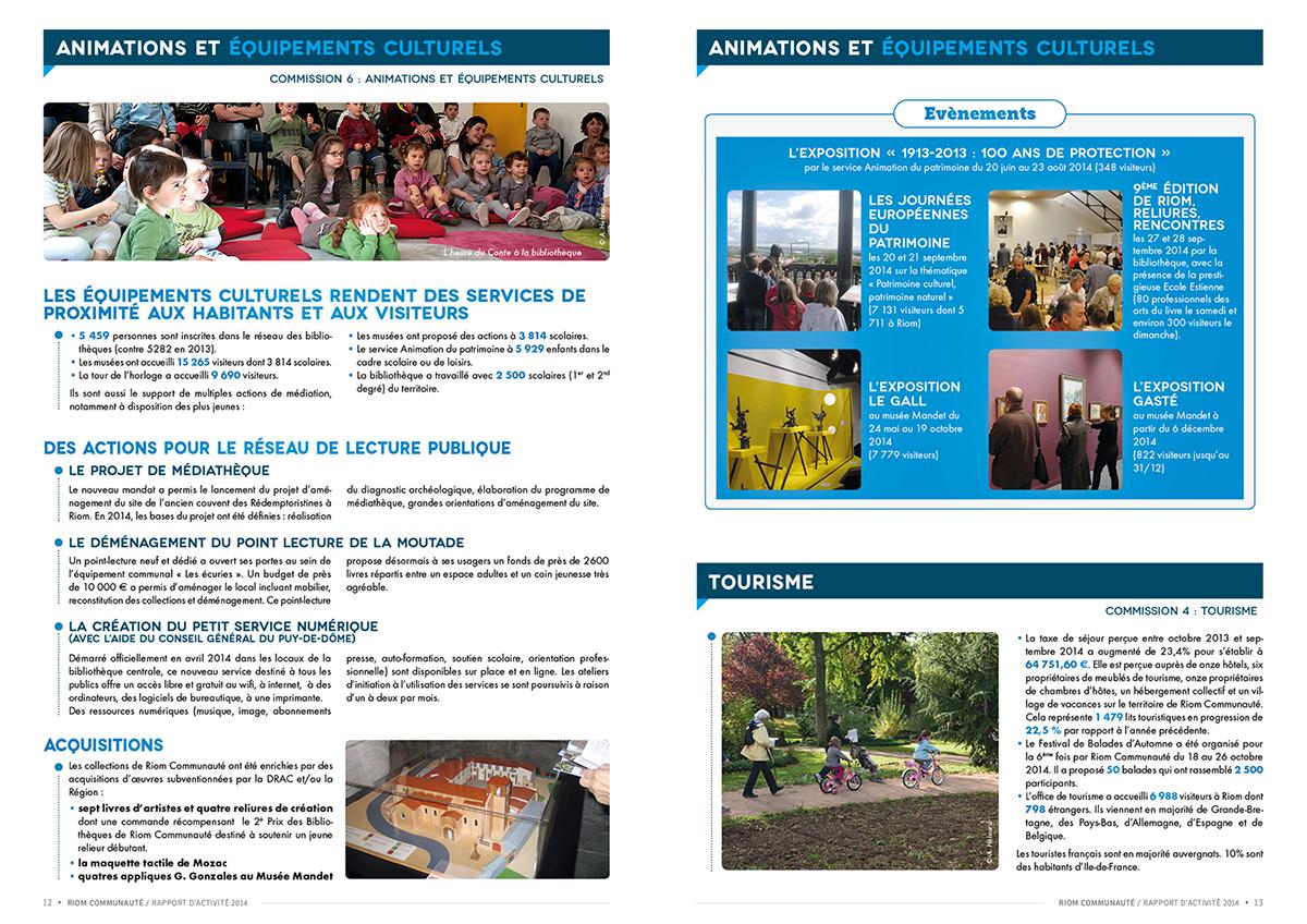 rapport d'activités brochure collectivité territoriale