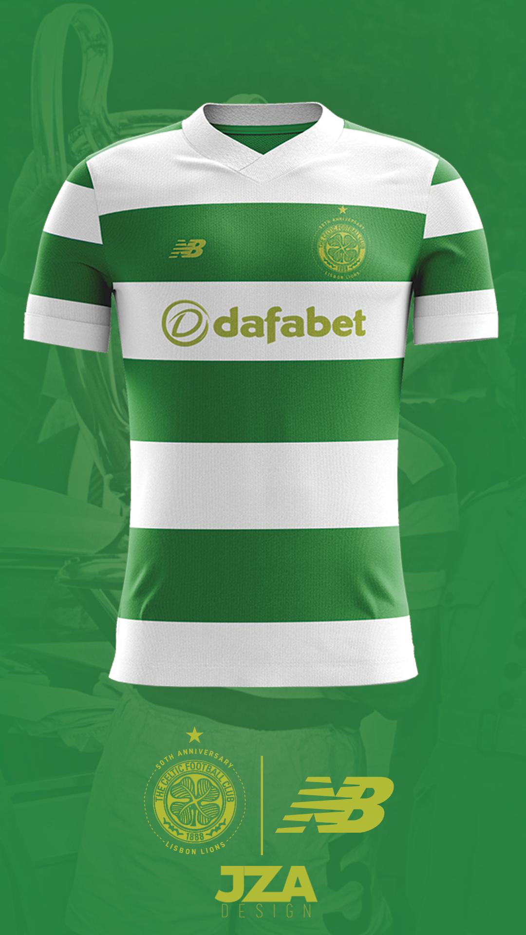 385215677 Celtic 17 18 Home Shirt Concept - Lisbon 50th on Behance