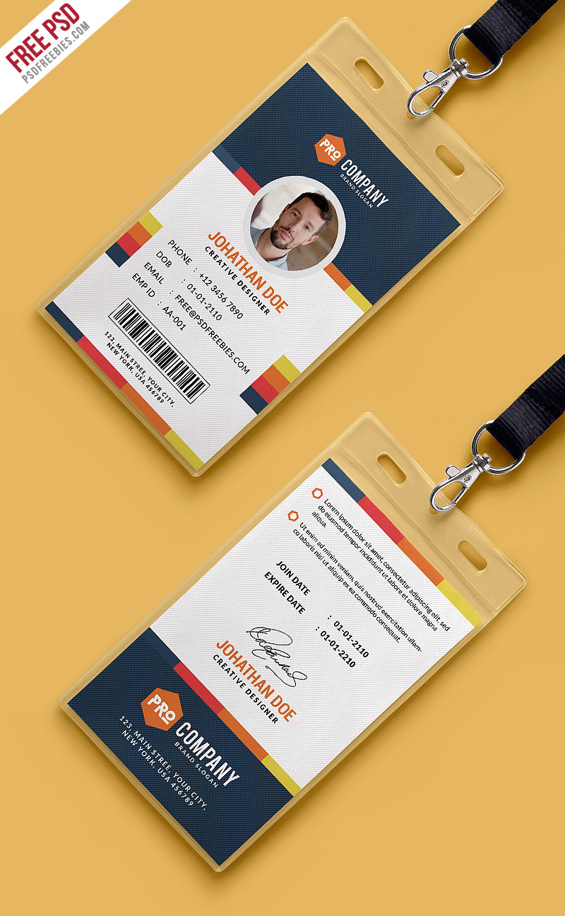 Free PSD : Creative Office Identity Card Template PSD on Behance