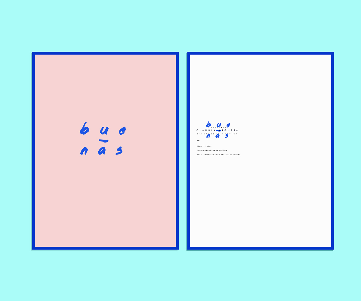 Identity Design Minimalism color pink blue curriculum CV personal project Resume