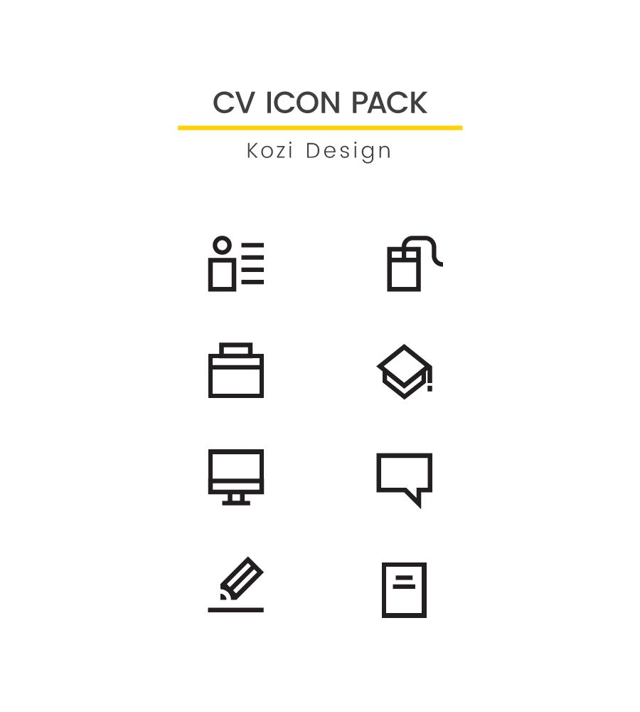 Icon icon design  icons Resume CV cv icon resume icon icon pack vector vector icons
