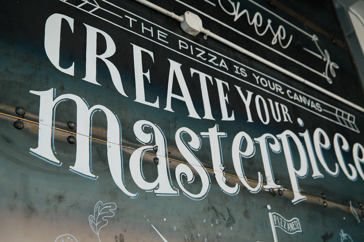 Pizzanese mural on behance for Thank you mural