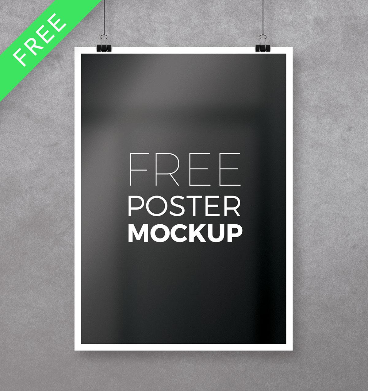 free poster psd freebie download flyer template photoshop Poster Mockup free mockup  Resume print a4 Mockup mock-up