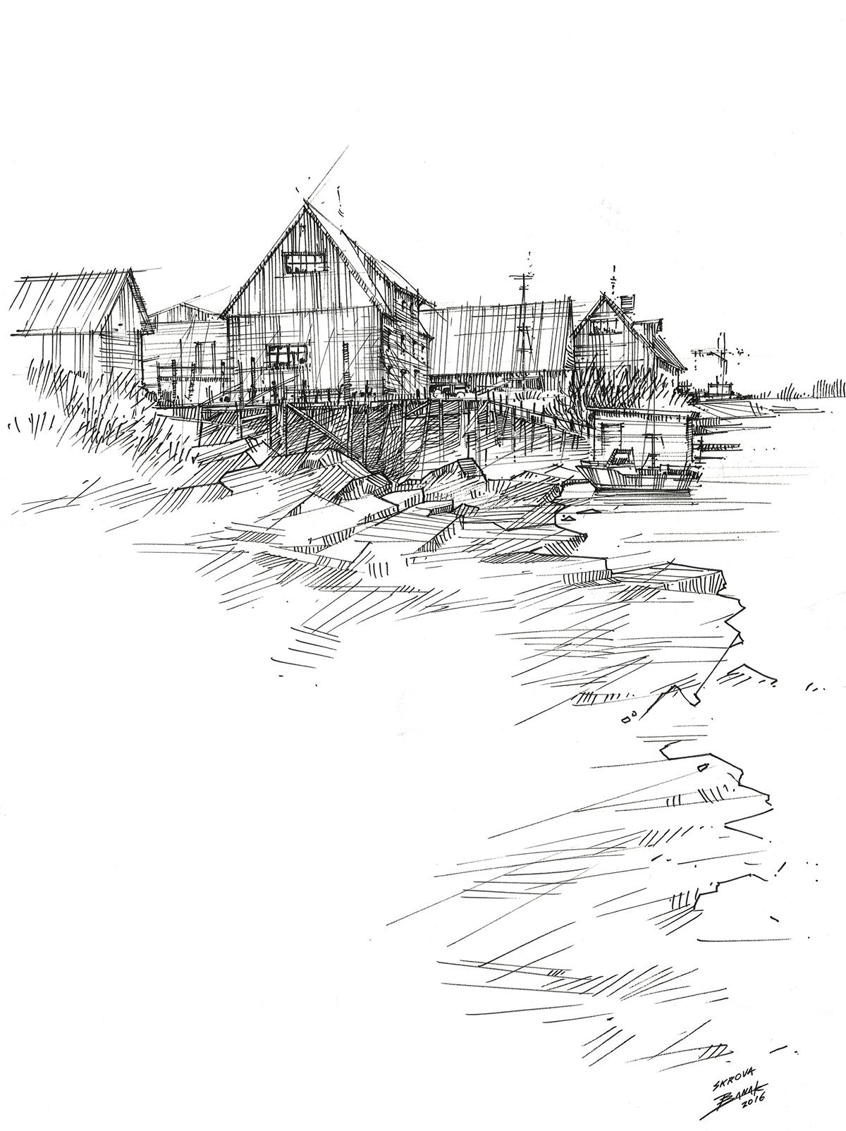 Drawing  sketch Travel ING tradiotional art