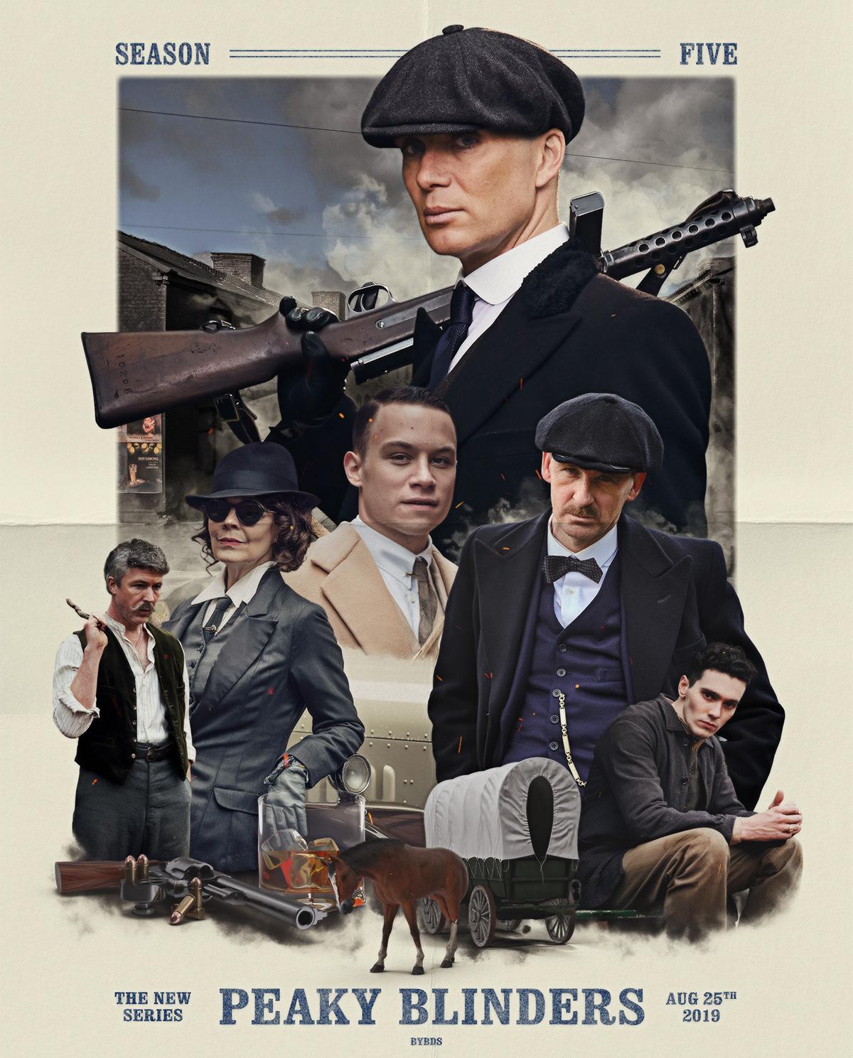 Peaky Blinders — Season 5 Poster Concept — byDBDS® on Behance