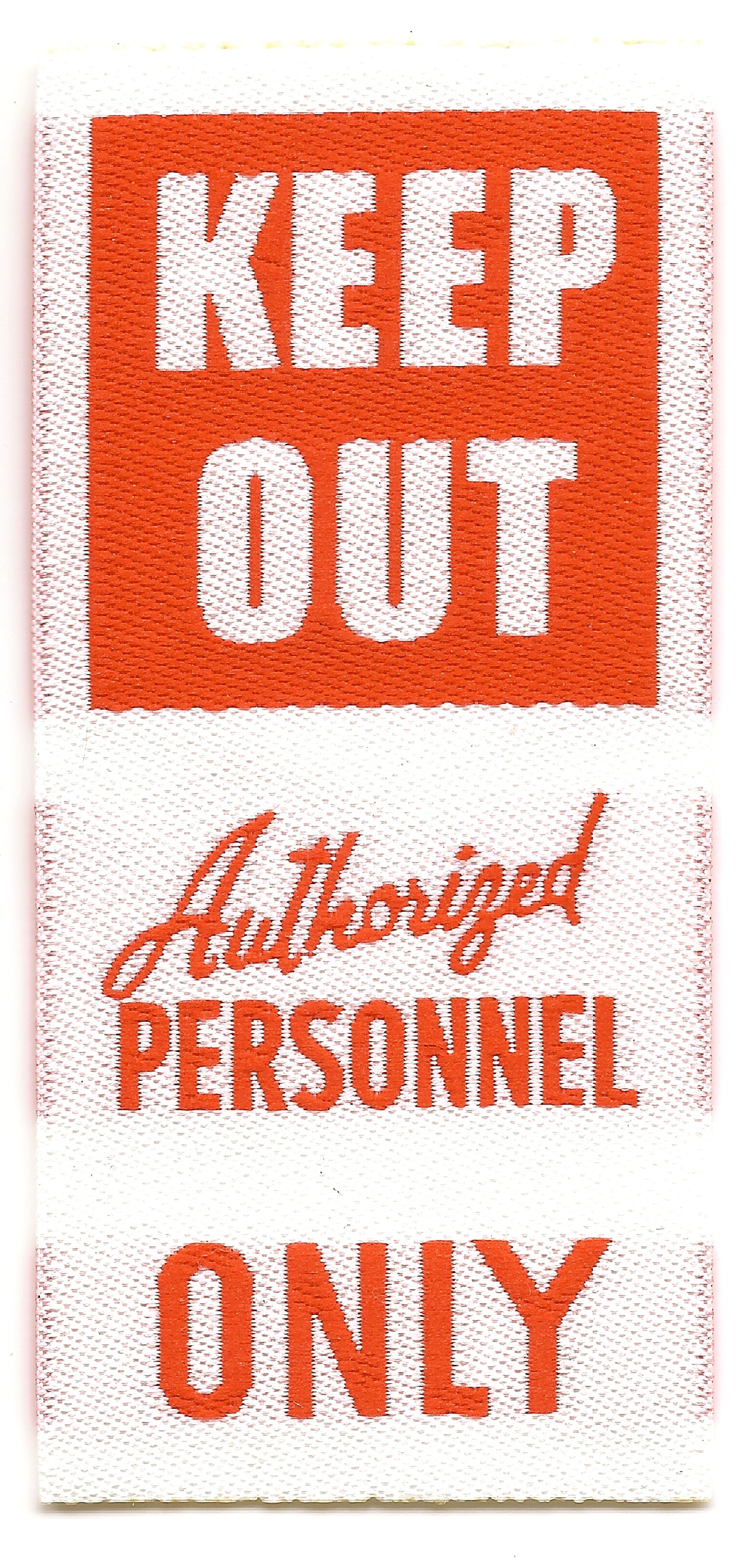 Fashion KEEP OUT Authorized Personnel ONLY On Behance
