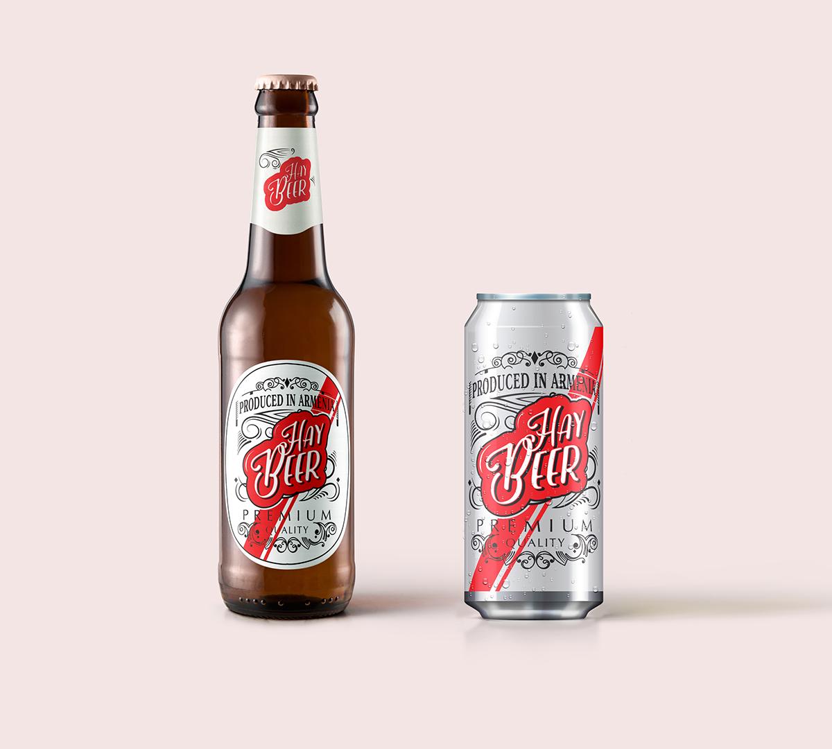 beer branding  hay naming Armenian