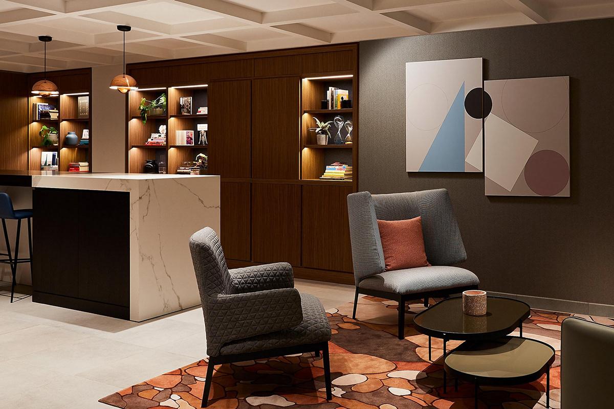 Artworks in Paris. Bauhaus inspired artwork. Studio meeting room. Crowne Plaza Paris Republique