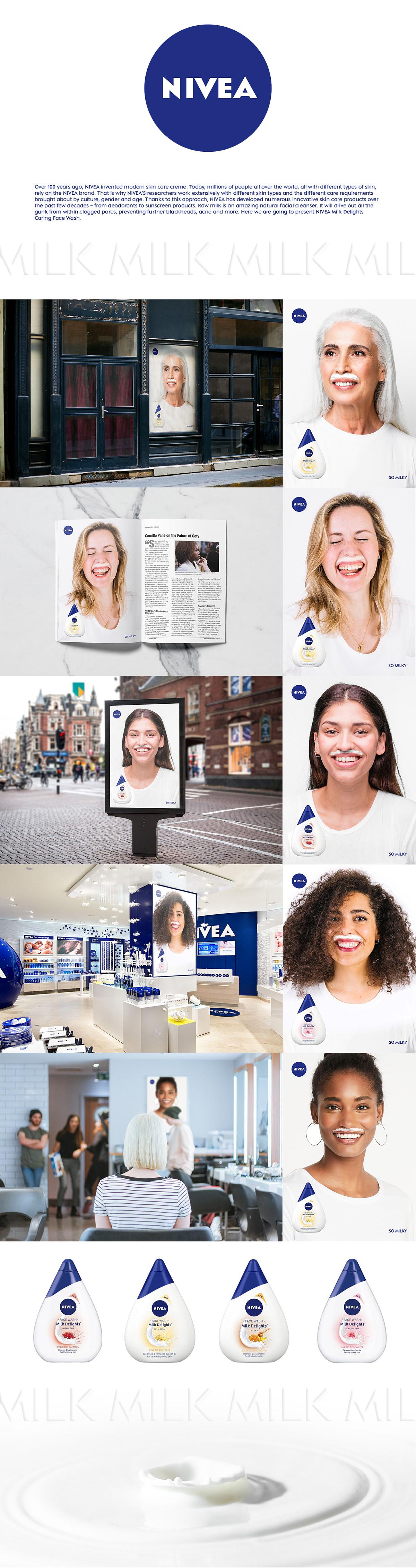 Nivea skin care beauty photograhpy cream creative posters Unilever women art