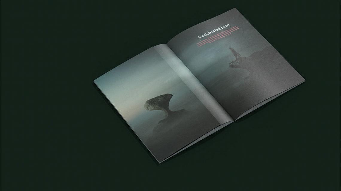 branding  clean graphic design  logo Scandinavian green seafood Corporate Identity visual identity deboss