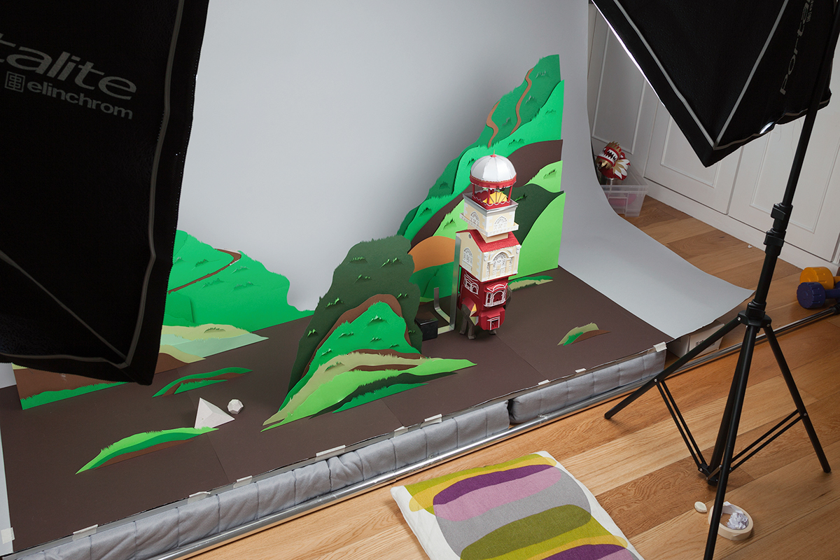 Adobe Portfolio stop motion paper animation paper craft 3d paper paper character chinese dragon indian elephant Arabian camel Mediterranean Sea paper stop motion Paper Engineer