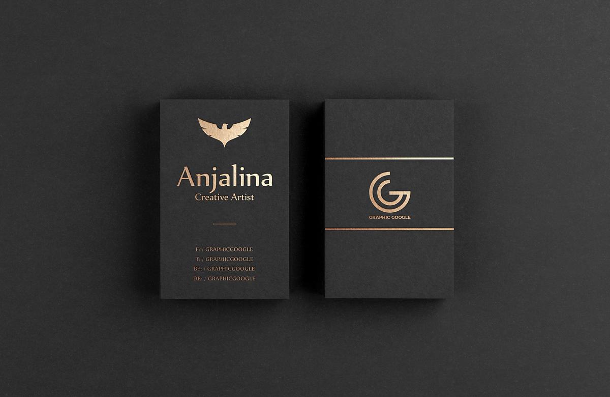 Free Gold Foil Business Card Mockup On Behance