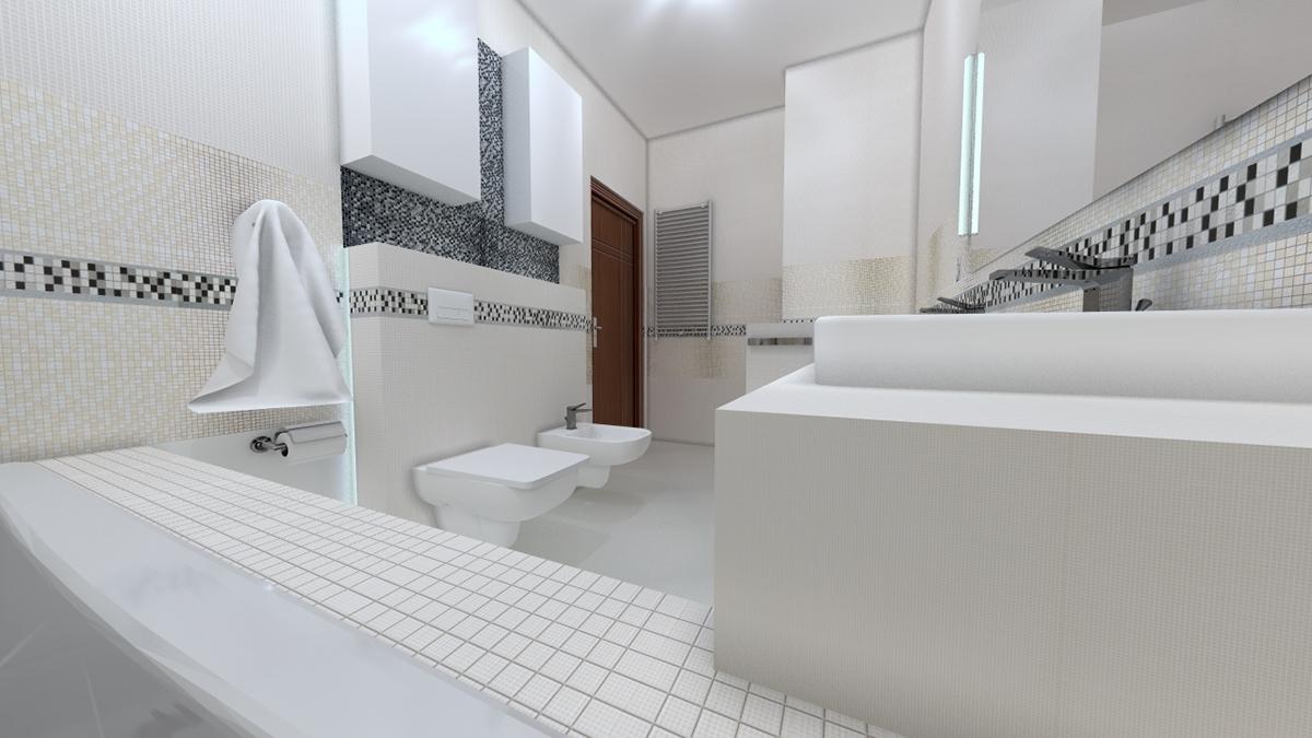 Projekt łazienki - kolekcja Vampa - Tubądzin on Behance
