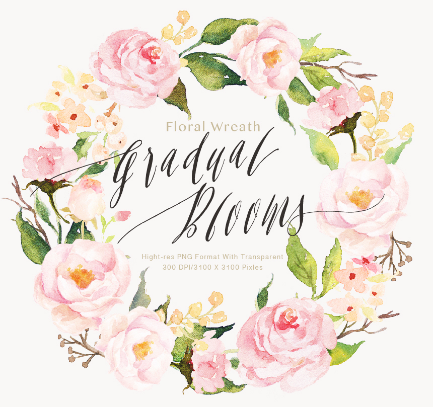 watercolor flower clip art gradual blooms on behance spring flower clip art free images spring flowers clipart png