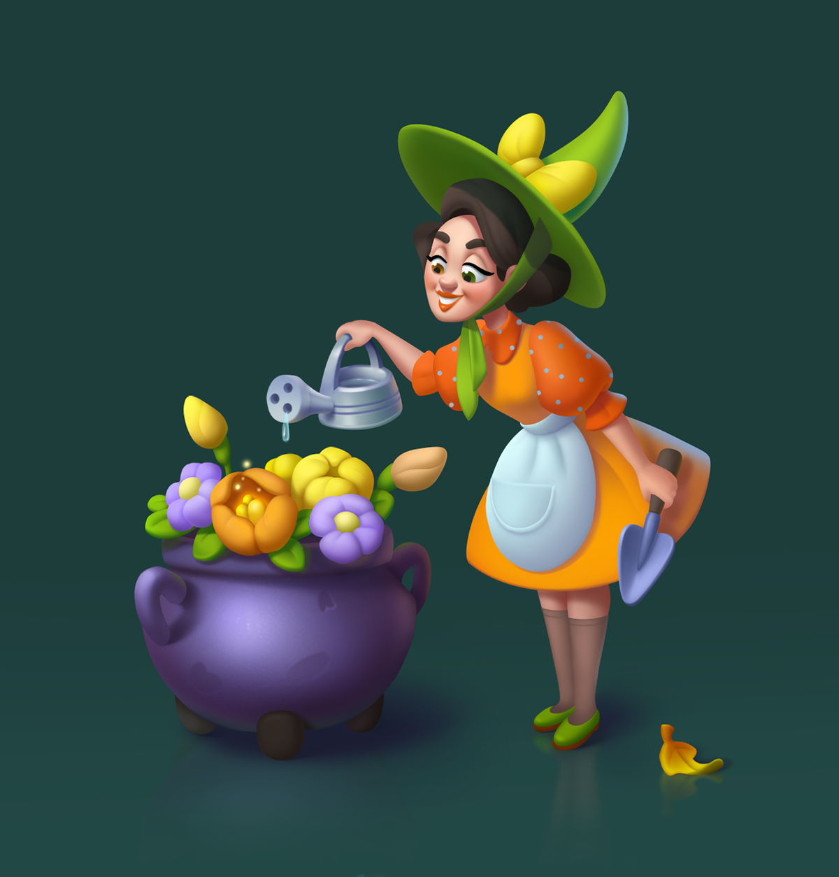 Character Game Art game ui ghost Halloween Holiday ILLUSTRATION  mobile games witch cartoon