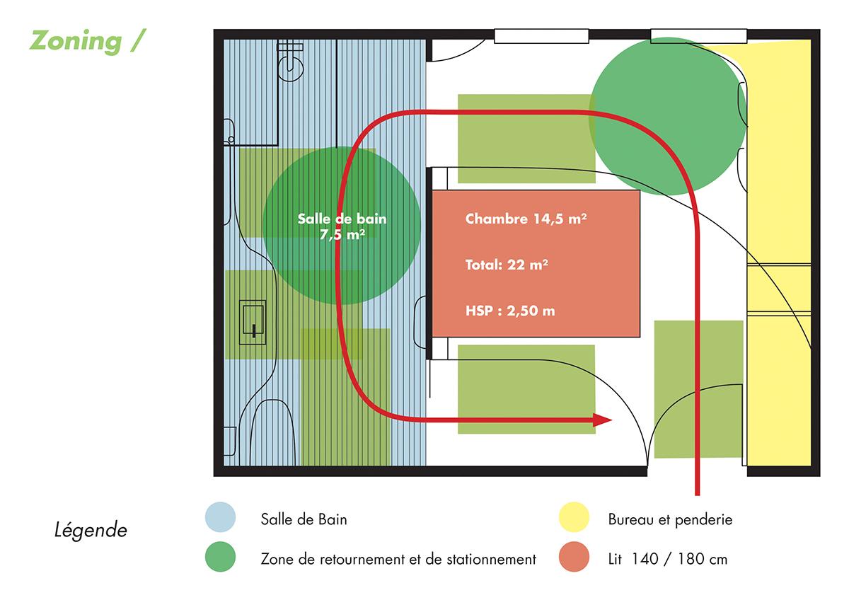 Meuble Salle De Bain Lapeyre Belle Epoque ~ Une Chambre D H Tel Pmr On Behance
