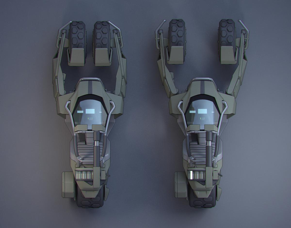 Halo Wars 2 UNSC Jackrabbit on Wacom Gallery