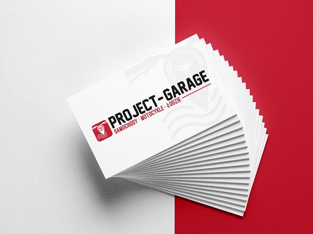 logo Project garage branding  car gps motors company