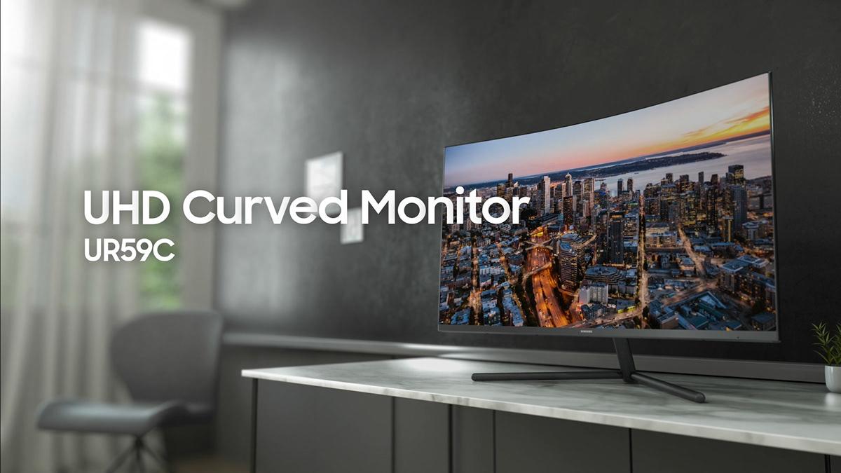 SAMSUNG] UHD Curved Monitor UR59C on Behance