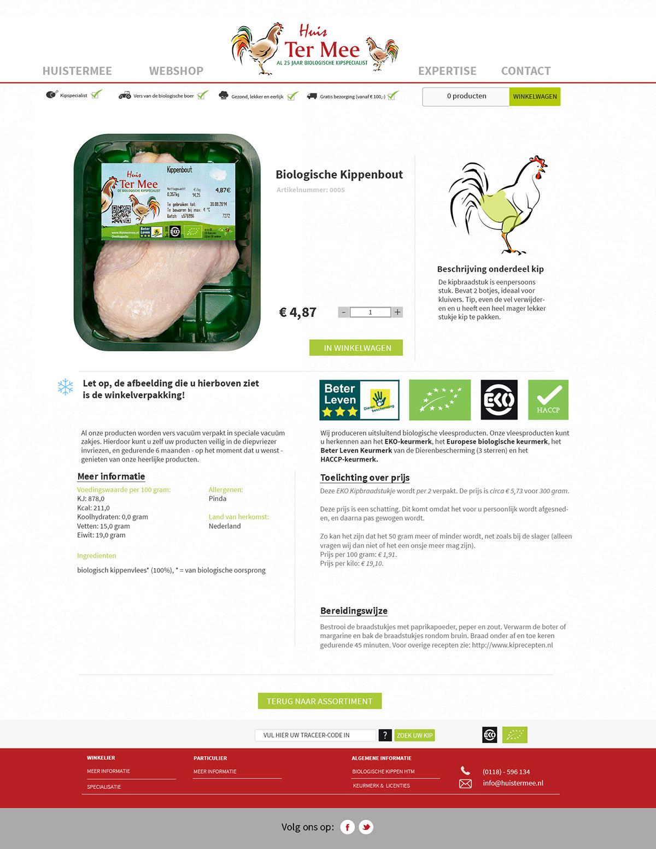 biologisch huistermee website ontwerp